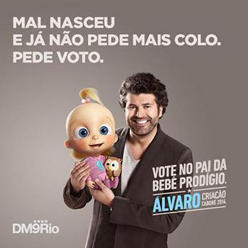 Quando estava na DM9, Álvaro foi indicado como finalista do Prêmio Caboré de 2014.