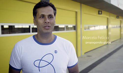 Marcelo Felicio, com a camiseta do projeto Respeito