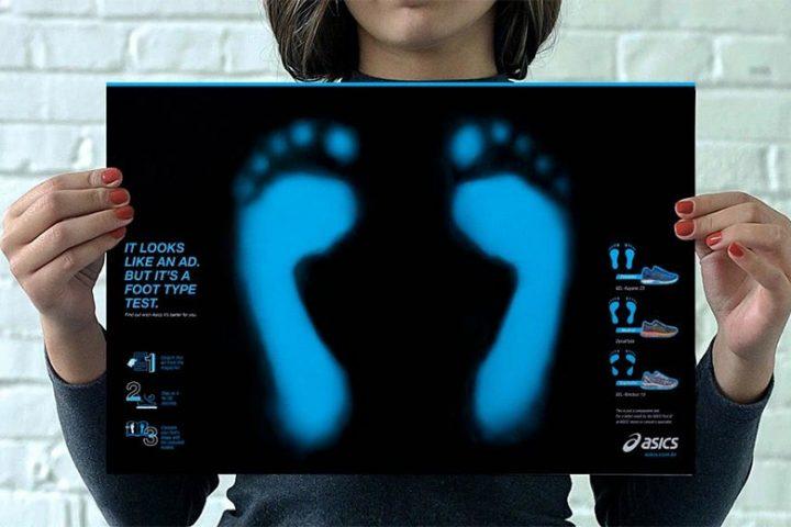 """Foot Type Test Ad"", da Neogama para Asics"